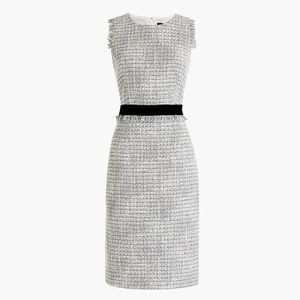 J. Crew New Sheath Metallic Tweed Dress